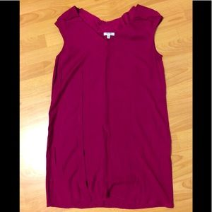 Barney's New York Fuchsia raw hem shift dress